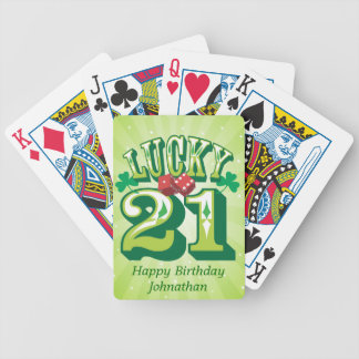 Lucky 21 Custom Bicycle Playing Cards