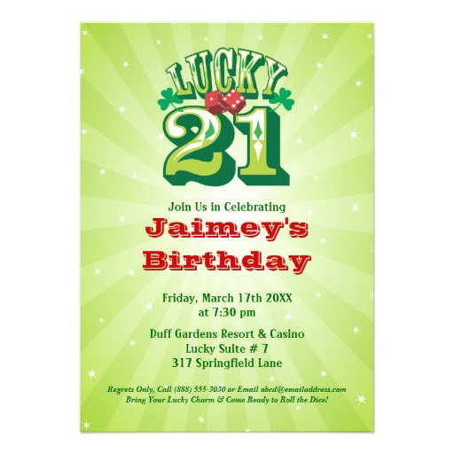 21 Birthday Invitations can inspire you to create best invitation template