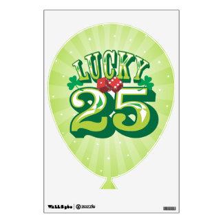 Lucky 25 - Birthday Balloon Wall Cling Wall Decor