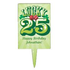 Lucky 25 Custom Rectangle Cake Picks