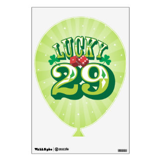 Lucky 29 - Birthday Balloon Wall Cling Wall Decal