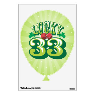 Lucky 33 - Birthday Balloon Wall Cling Wall Sticker