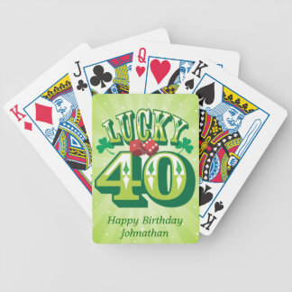 Lucky 40 Custom Bicycle Playing Cards