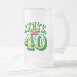 Lucky 40 Glass Beer Mug