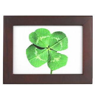 """Lucky 4 leaf clover"" Memory Box"