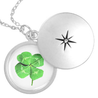 """Lucky 4 leaf clover"" Silver Plated Necklace"