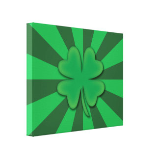 Lucky 4 leaf clover St. Patrick's Day Print Canvas Print