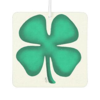 Lucky 4 Leaf Irish Clover car air freshener