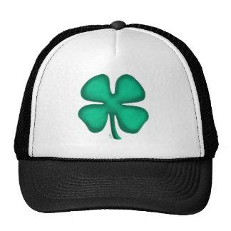 Lucky 4 Leaf Irish Clover hat