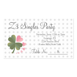 Lucky 4 Leaf Love Clover Party Reservation Card