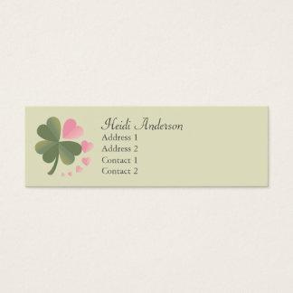 Lucky 4 Leaf Love Clover Skinny Card