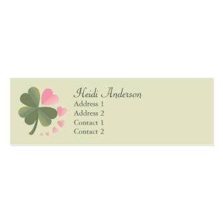 Lucky 4 Leaf Love Clover Skinny Card Business Card Templates