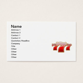 Lucky 7 business card