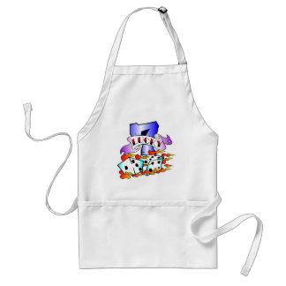 Lucky 7 & Dice Tattoo Adult Apron