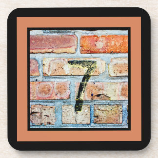 Lucky 7 Plaid Beverage Coaster
