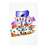 Lucky 7 w/ Dice Stationery Paper