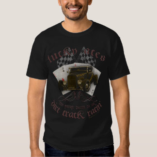Lucky Aces Dirt TRACK racing old timer Rockabilly T Shirt