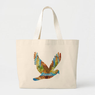 Lucky Angel Bird : Trophy Cup n Awards Large Tote Bag
