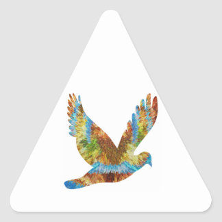 Lucky Angel Bird : Trophy Cup n Awards Triangle Sticker