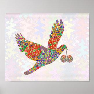 Lucky ANGELBIRD Art Poster