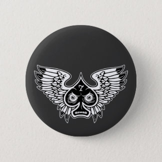 Lucky Angry Winged Spade #7 Pinback Button