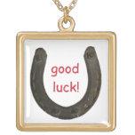 Lucky Antique Horseshoe Custom Necklace