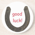 Lucky Antique Horseshoe Drink Coasters