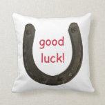 Lucky Antique Horseshoe Pillow