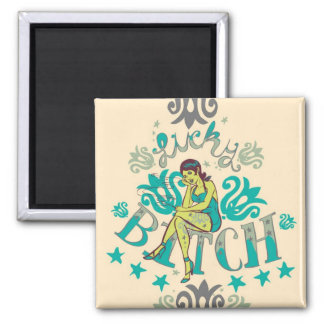 Lucky B 2 Inch Square Magnet