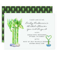 Lucky Bamboo  Bridal Shower Invites Watercolor 2