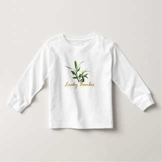 Lucky bamboo green leaves. nature photo art. toddler t-shirt