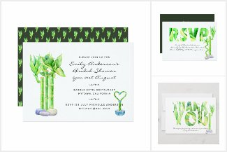 Lucky Bamboo Invitations and partyware