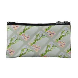 LUCKY BAMBOO MONOGRAMED COSMETIC/CLUTCH BAG