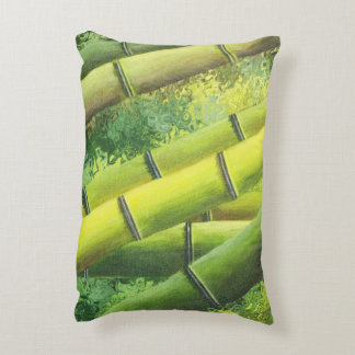 Lucky Bamboo with Quote Accent Pillow