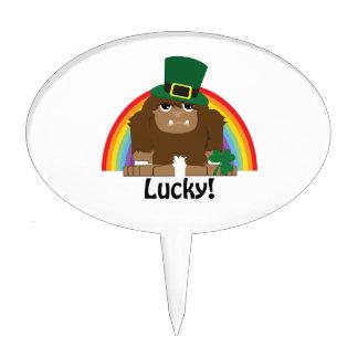 Lucky Bigfoot Leprechaun Cake Topper