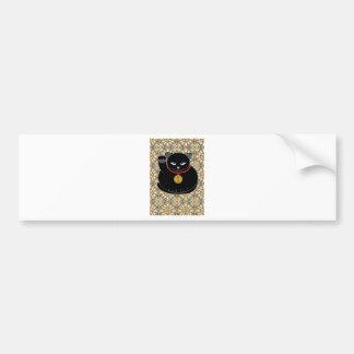 Lucky Black Cat Bumper Stickers
