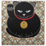 Lucky Black Cat Cloth Napkin