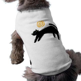 Lucky Black Cat Doggie Tee Shirt