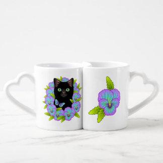 Lucky Black Cat Lover Adorable Nesting Mugs
