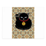 Lucky Black Cat Post Cards
