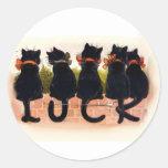 Lucky Black Cats Sticker
