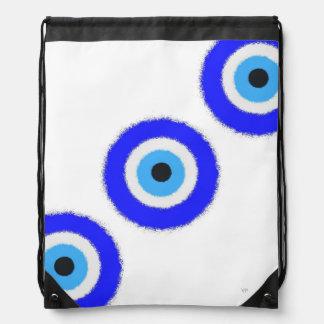 Lucky Blue Eye Drawstring Backpack
