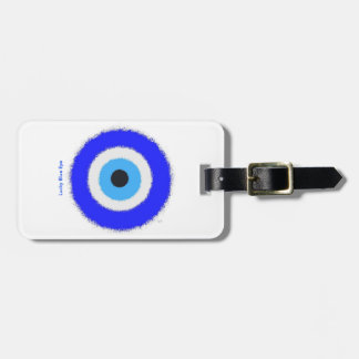 Lucky Blue Eye Luggage Tag w/ Leather Strap
