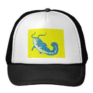 Lucky Blue Fish 1 Mesh Hat