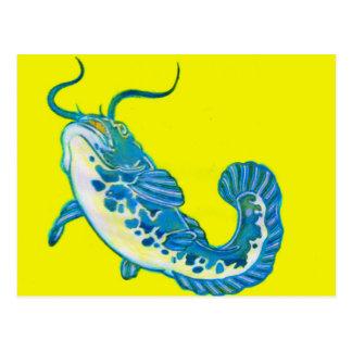 Lucky Blue Fish 1 Postcard
