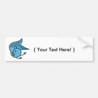 Lucky Bluebird Bumper Sticker