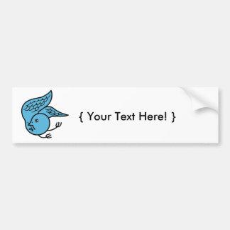 Lucky Bluebird Bumper Sticker