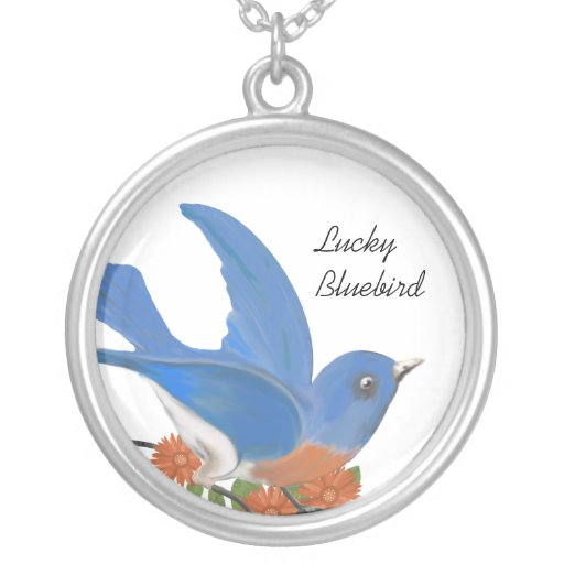 Lucky Bluebird Coral Flower Necklace