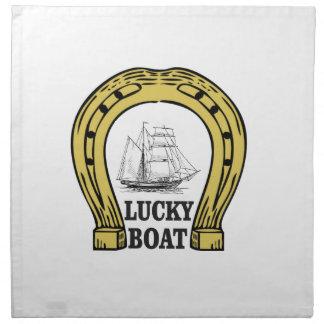 lucky boat at sea cloth napkin