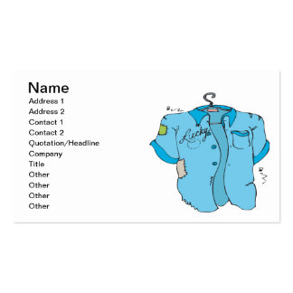 Lucky Bowling Shirt Double-Sided Standard Business Cards (Pack Of 100)